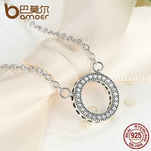 925 Sterling Silver Hearts Of Brand Clear Round Shape CZ Pendant Necklaces