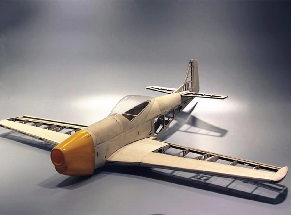 RC Plane Laser Cut Balsa Trä Flygplansats New P51 Frame Without - Radiostyrda leksaker - Foto 6
