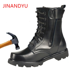 Steel Toe Men Military Boots Leather Safety Shoes for Men Sp