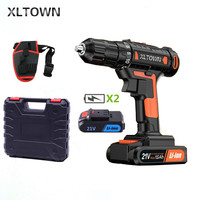 XLTOWN the new21v Cordless Electric Drill Household Multifunction Electric Screwdriver 60 Nm Dramatic Household Electric Drill
