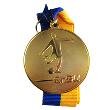 Hot Gold Plated Football Medal Trend Personality  k200174