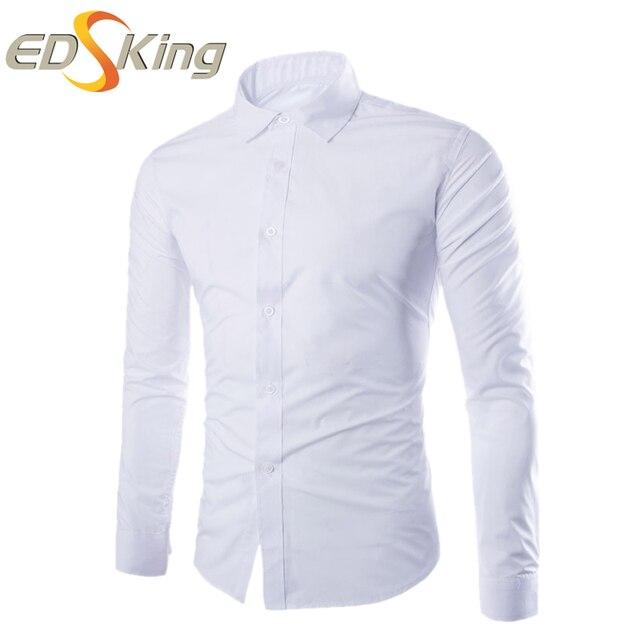Мужчины рубашка с длинным рукавом 2017 платье с длинным рукавом хлопок мода человек проверки социальной мужской блузка больших размеров бренд-clothing