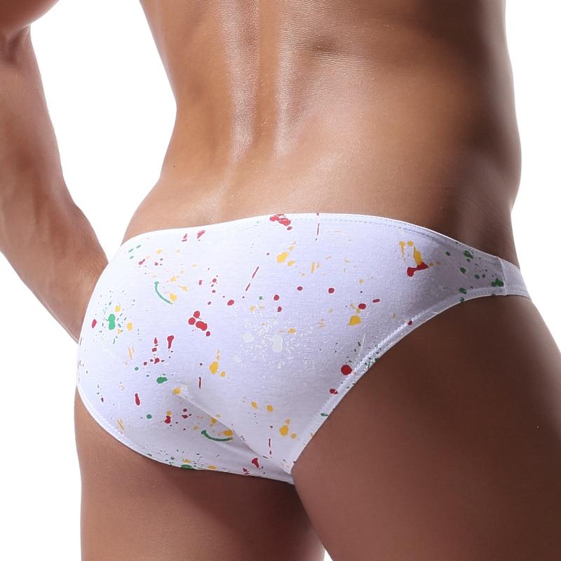 Mens Cotton Briefs Sexy Men Underwear Comfortable Colorful Briefs Underwear Calzoncillos Hombre Slips Printed Underwear Hipster