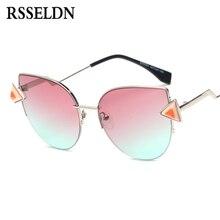 Rsseldn Женская мода розовый синее море Солнцезащитные очки для женщин Для  женщин классический Брендовая Дизайнерская обувь f8058fa7b5294