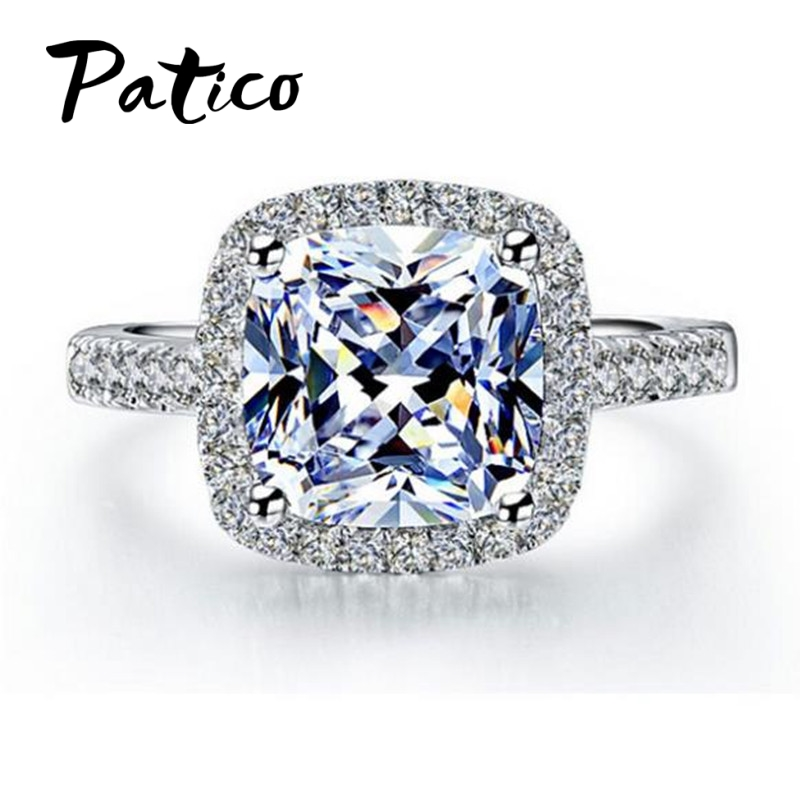 Prabangūs PATICO 100% 925 sidabriniai žiedai moterims Vestuviniai - Mados papuošalai - Nuotrauka 2