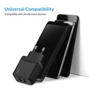 Image 4 - TOPK 28 W Sạc Nhanh QC3.0 USB Sạc Du Lịch EU Sạc Điện Thoại Adapter Đối Với iPhone Samsung Xiaomi Huawei Điện Thoại Di Động sạc