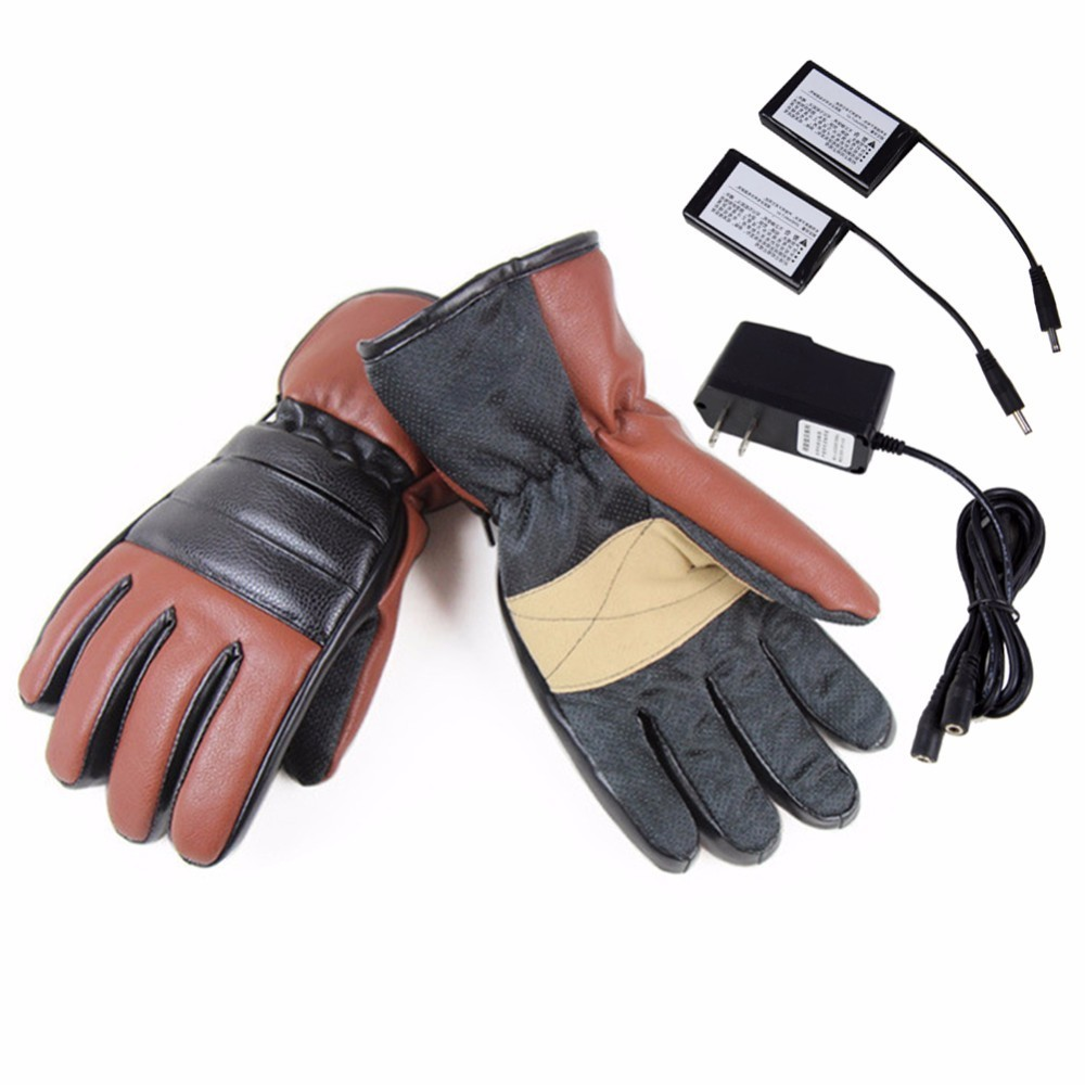 Winter USB Hand Warmer Electric Thermal Gloves Rechargeable Battery Heated Gloves Cycling Motorcycle Bicycle Ski Gloves Unisex new energy saving 5v usb gloves powered heating heated winter hand warmer labor gloves black purple washable free shipping