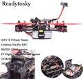 Новые DIY Мини Drone QAV-X 214 мм Углеродного Волокна F3 Управления Полетом RS2205 2300kv TS5828L Fatshark Антенны Matek PDB 5045 Prop
