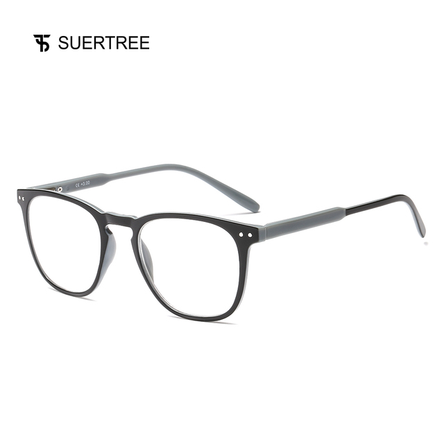 SUERTREE Reading Glasses Ultralight HD Diopter Lens Presbyopic Glasses Comfort Fit Men and Women for Reading JH221