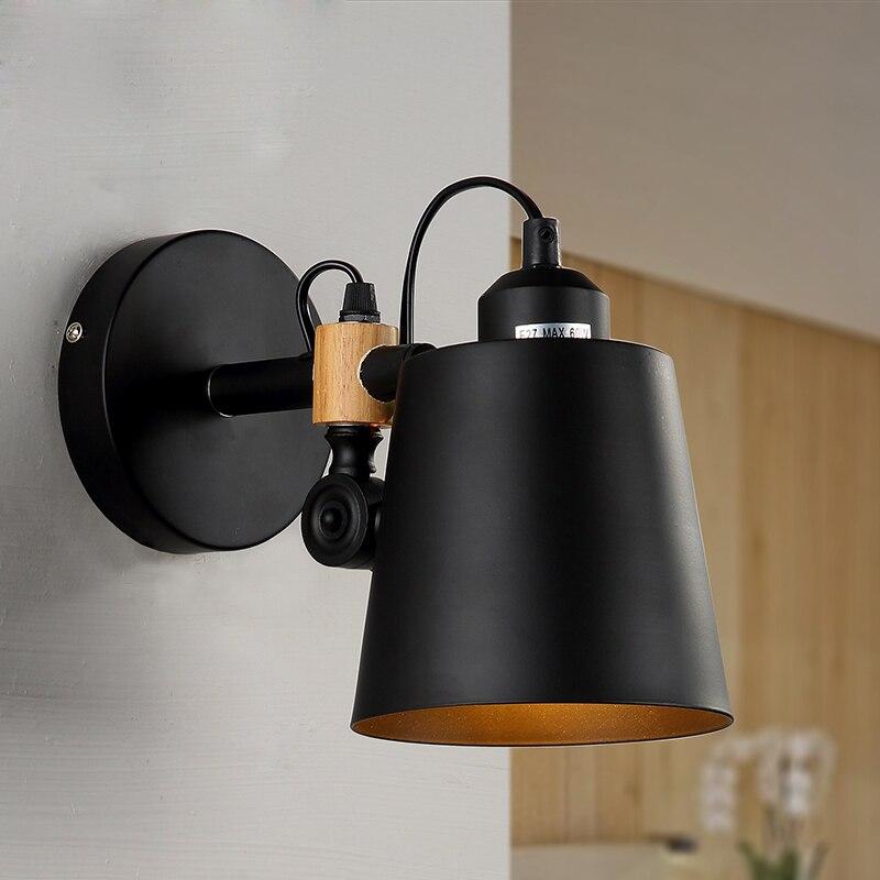 Loft industriel rétro colliers muraux en métal  style noir  balcon Simple  couloir Vintage  chambre à manger  lampe de lecture au chevet du mur W246|Mur Lampes|Lampes et éclairages -