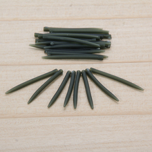 30pcs/set 53mm Terminal Dark Matter Anti Tangle Sleeves Connect with Fishing Hooks Carp Fishing Tackle Pesca Fishing Accessories