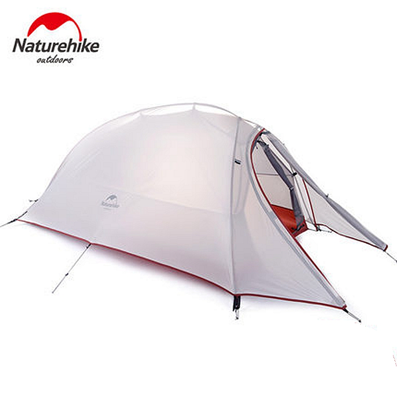 NatureHike 1 Person Tent Double-layer Tent Waterproof Dome Tents Camping 4 seasons Tents NH15T001-T With 1 Person Floor Mat waterproof tourist tents 2 person outdoor camping equipment double layer dome aluminum pole camping tent with snow skirt