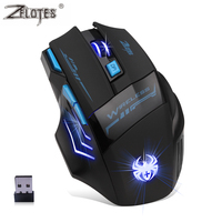 Professional Wireless Mouse Gaming Mouse Optical 2400DPI 2 4G Computer Mouse LED 7 Keys Gaming Mice