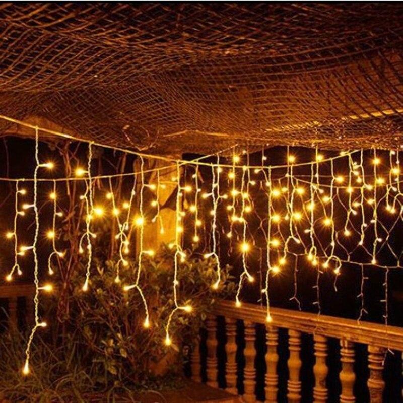 Christmas Lights Outdoor Decoration 3.5m Droop 0.3-0.5m Led-gordijn - Buitenverlichting