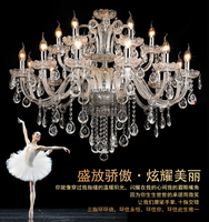 Wholesale Free Shipping Modern luxury 15 Arms Large Crystal Chandelier Lamp Lustre Home , with 100% K9 Crystal D850mm H730mm