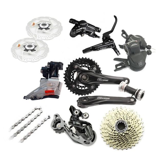 fa20451b4fd Brand New SHIMANO Deore M610 2x10 20 Speed Mountain Bike Double Groupset 7  pcs--Black +Disc brake Set+Rotors A Pair