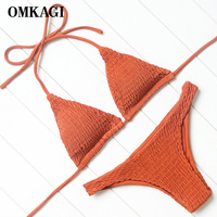 OMKAGI Sexy Swimwear Women Swimsuit Bikinis Set Push Up Swimming Bathing Suit Beachwear Summer Bikini 2017