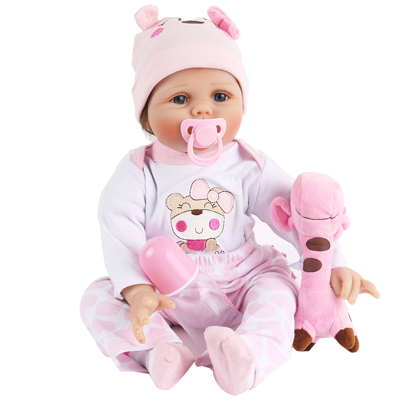 NPK Reborn Baby Dolls 22 55cm Soft Silicone Vinyl Realistic Lifelike newborn doll For Girls plush toys Gift Classic Popular