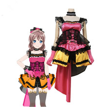 Hot Sale!!!Custom Made Cosplay Costume BanGDream!PoppinParty Yamabuki Saya Cos Dress sweet and cute full sets
