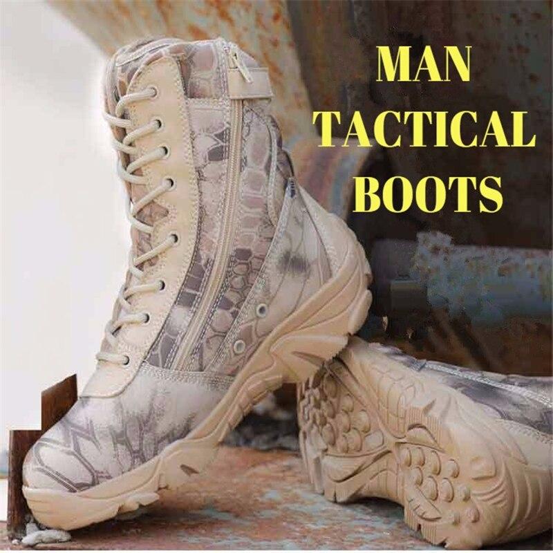 Étanche marron Camouflage Hommes Bottes En Python Dark Haute Plein top Tactique Haute dérapage Motif Désert Militaire Anti Qualité Air Blue rHHIxqnOw