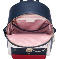NUCELLE Women's Leather Backpack Ladies Fashion Cat Ear Lock Chains Daily Shoulder Bags Female Elegant Panelled Travel Backpack 4