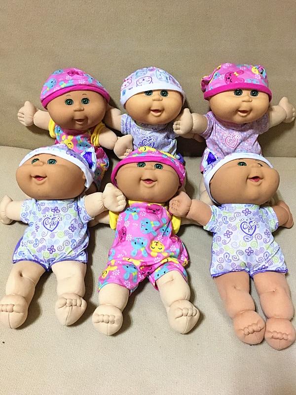 Popular Kids Favorite Baby Dolls Cabbage Patch Kids Doll Girls Best Birthday Gift Christmas Gift Boneca 30cm Randomly Send