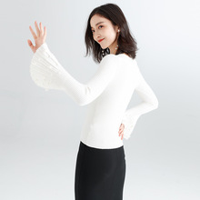 Womens Autumn and Winter Sweater with Flare Sleeve Tops