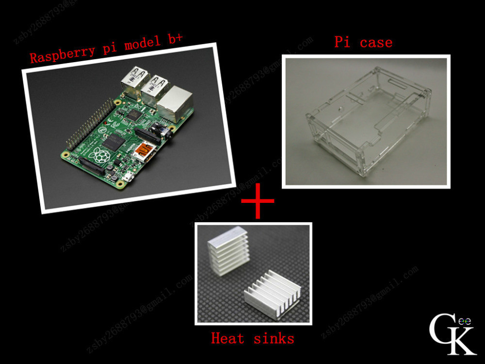 3 IN 1 Rev 3.0 512 ARM Raspberry Pi model 3 Project Board Model 3+ 2 heat sinks + 1 board case All 4pcs/lot