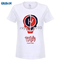 GILDAN Twenty One Pilots Rock N Roll Women T Shirts Suicide Squad Digital Printed 100 180