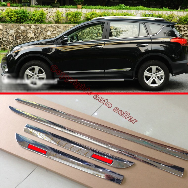 Abs Chrome Side Door Body Molding Moulding Trim For Toyota