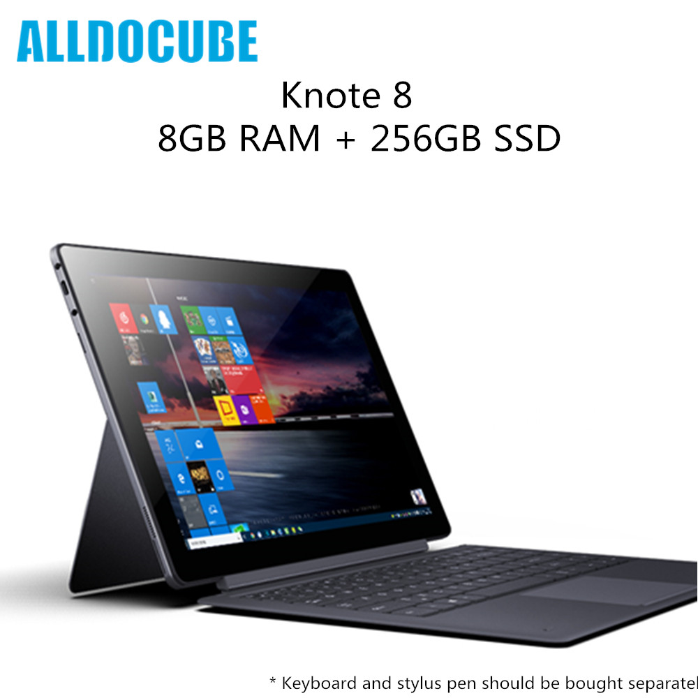 Original ALLDOCUBE KNote 8 tablette PC Intel Core m3 8 GB RAM 256 GB SSD 2 K affichage WiFi Bluetooth ordinateur portable Type C