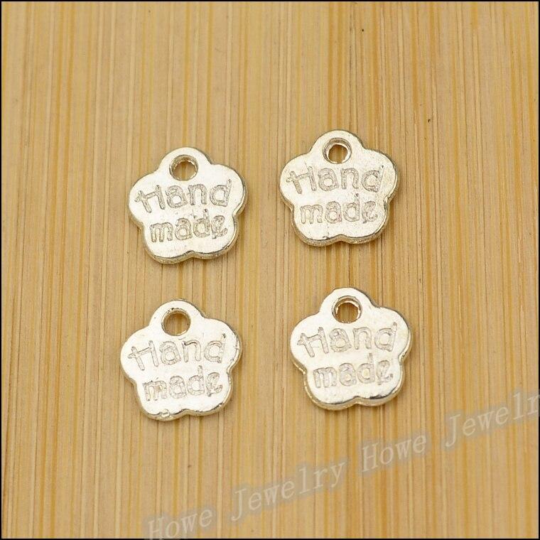 5//10pcs Fleur connecteur Charms Antique Ton Argent 22*28mm À faire soi-même Bracelet Making