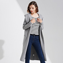 2017 Winter Coat Knitted Fall Fashion Korean Autumn Womens Plus Size Windbreakers Long Coats Knitwear Ladies Clothing Red Jacket