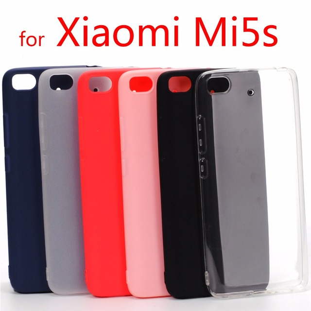Xiaomi mi5s case cover Mi 5s Silicone TPU case for Xiaomi mi5s mi 5s solid color Soft Matte surface