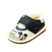 2018 Winter Baby Cotton Shoes Cartoon Infant Toddler Snow Boots Worm Kids Winter Shoes Mickey Mouse Baby Moccasins