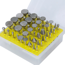 "50Pcs 1/8""Shank Diamond Coated Rotary Grinding Head Lapidary Burr Drill Set For Dremel Rotary Tools Abrasive Tools"