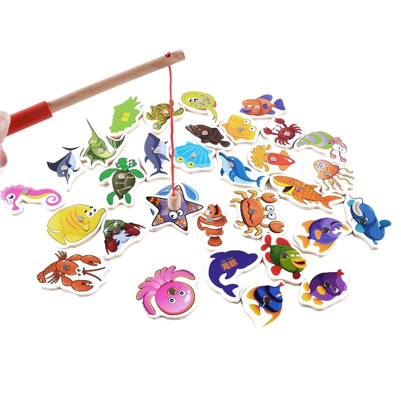 Goede Kopen Logwood Baby Speelgoed 32 Stks Magnetische Vissen
