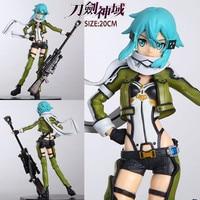 Anime Sword Art Online 2 Sexy Girls GGO ALO Asada Shino Phantom Bullet PVC Action Figure Brinquedos Model Toys Drop Shipping