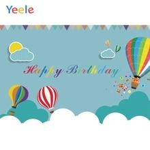 Yeele Hot Air Balloon Backdrop Baby Birthday Portrait Photography Background Customized Photographic Backdrops For Photo Studio