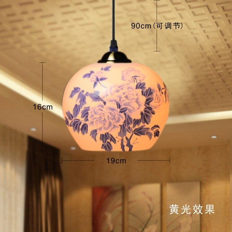 Antike Chinesische Stil Retro Lampen Wohnzimmer Esszimmer Beleuchtung Einzigen Kopf Keramik PendelleuchteChina