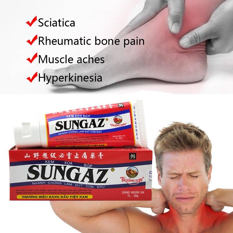 Vietnam Sungaz Rapid Pain Relief Pain Balm Analgesic ointment Rheumatoid Arthritis Bone Spurs Relieve Frozen Shoulder(China)