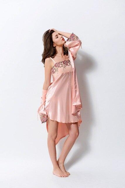 2017 Пижамы женщин Ночные Сорочки пижамы Пижамы Женщин домашней одежды пижамы женщин Ночная Рубашка сексуальное женское белье Халат Халат
