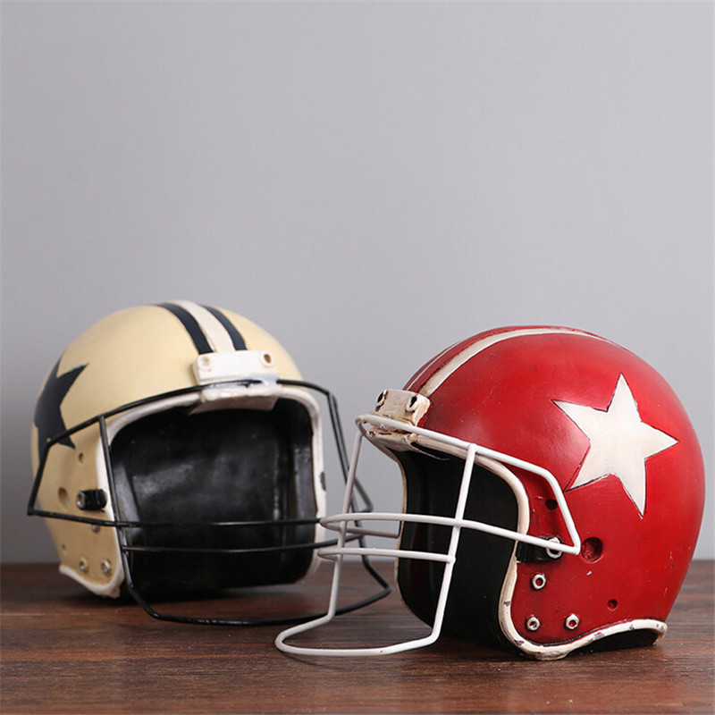 1 pcs 10*10*15cm American football ice hockey helmet Resin Crafts creative home decration ornaments