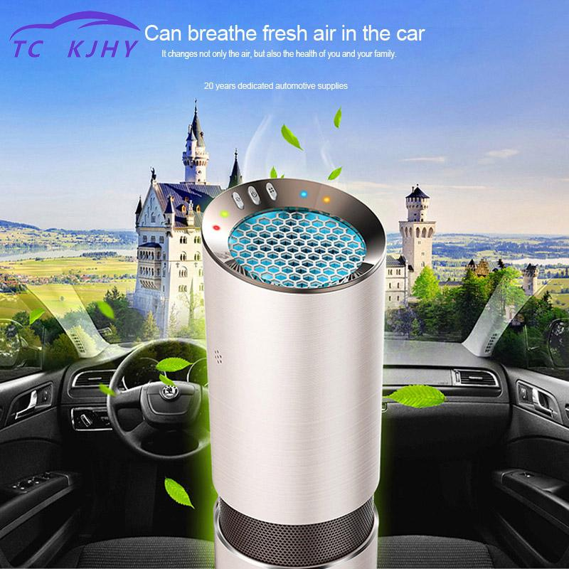 Car Air Purifier Air Purifier Ionizador Dc 12v Auto Car Freshener Air Ionic Purifier Oxygen Bar Ozone Ionizer Cleaner Sterilizer air purifier tecnologia inteligente vehicle air purifier deformaldehyde vehicle use oxygen bar incense pm2 5
