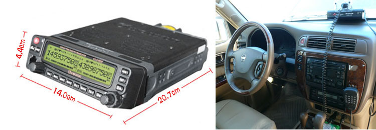 Nuovo wouxun kg-uv920p ricetrasmettitore mobile della radio corpo senza accessori