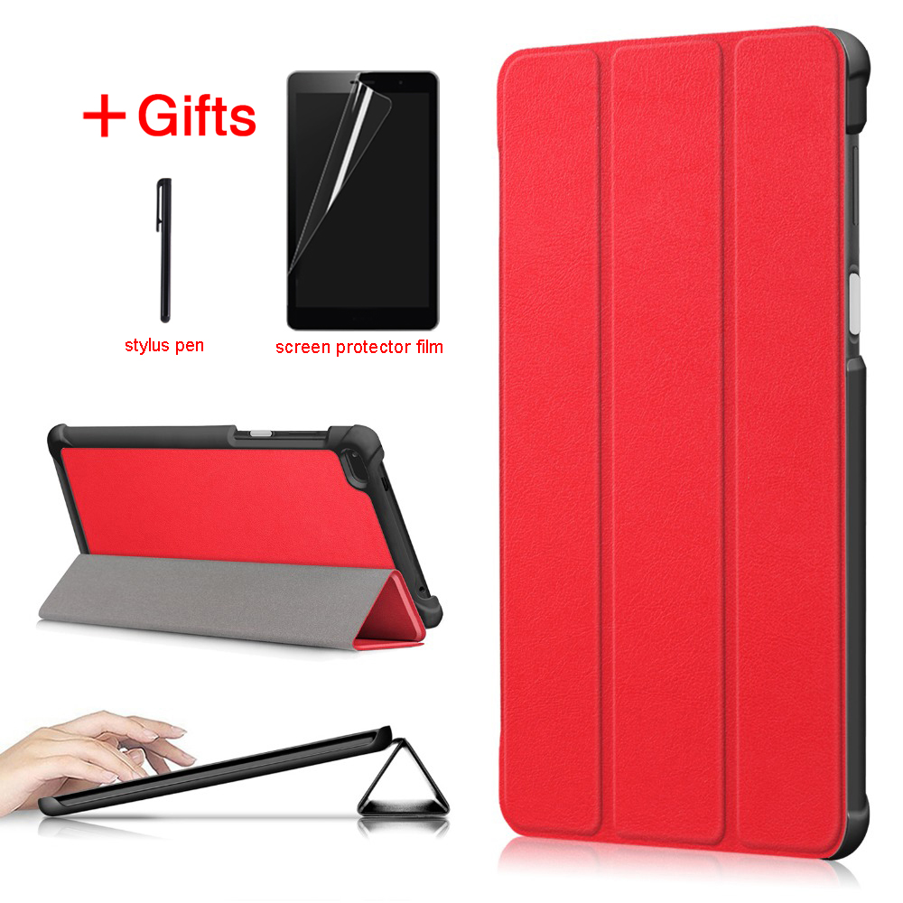 PU Leather Cover Case for <font><b>Lenovo</b></font> <font><b>Tab</b></font> <font><b>7</b></font> tab7 <font><b>TB</b></font>-<font><b>7504x</b></font> <font><b>tb</b></font>-7504f Tablet funda Case For <font><b>Lenovo</b></font> <font><b>tab</b></font> 4 <font><b>7</b></font> case image