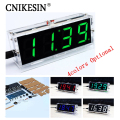 DIY clock Digital clock production suite voice timekeeping clock parts LED DIY SCM training electronic watch 4colors (optional