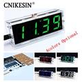 DIY clock Digital clock production suite voice timekeeping clock parts LED DIY SCM training electronic watch 4colors (optional