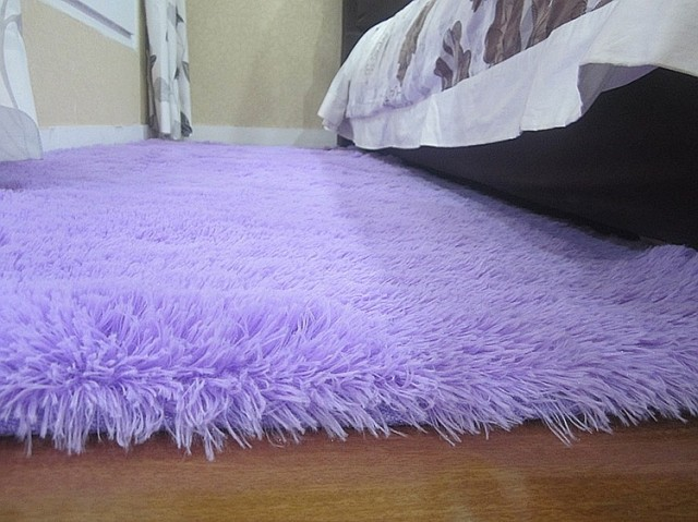 Light Purple 140x200cm Anti Skid Soft Fluffy Gy Home Area Rug