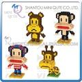 Mini Qute BOYU 4 estilos kawaii mono animal plástico bloques de construcción ladrillos educativos de dibujos animados kid juguete de regalo